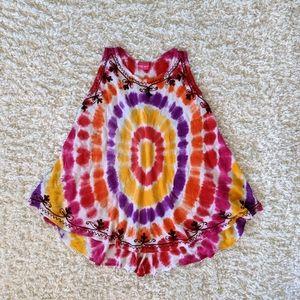 LUNA ROJA Free Size Women's Tie-dye Dress